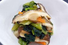 冷凍 チンゲン菜と椎茸の中華風